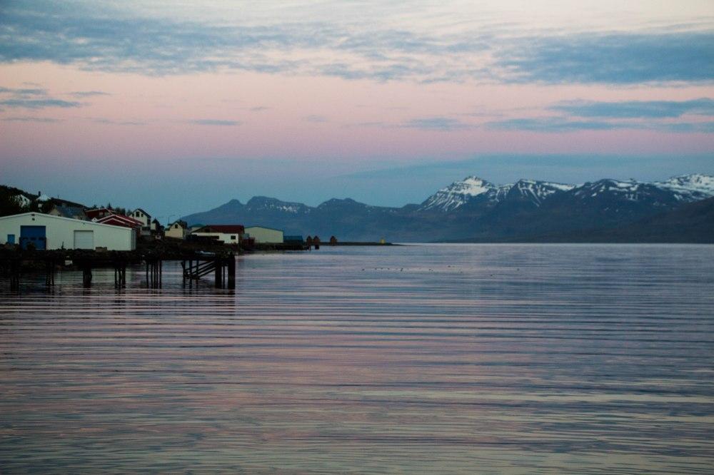 9 pm, verano en Eskifjörður
